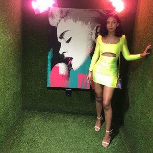 Fashionnova Neon Green Dress